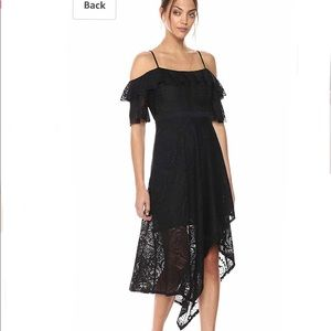 "BCBG black ""demi"" midi lace dress"